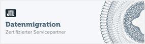 Logo für zertifizierter JTL-Servicepartner Datenmigration