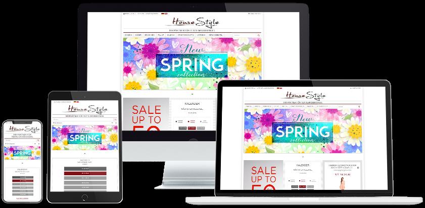 House Style Online-Shop Übersicht