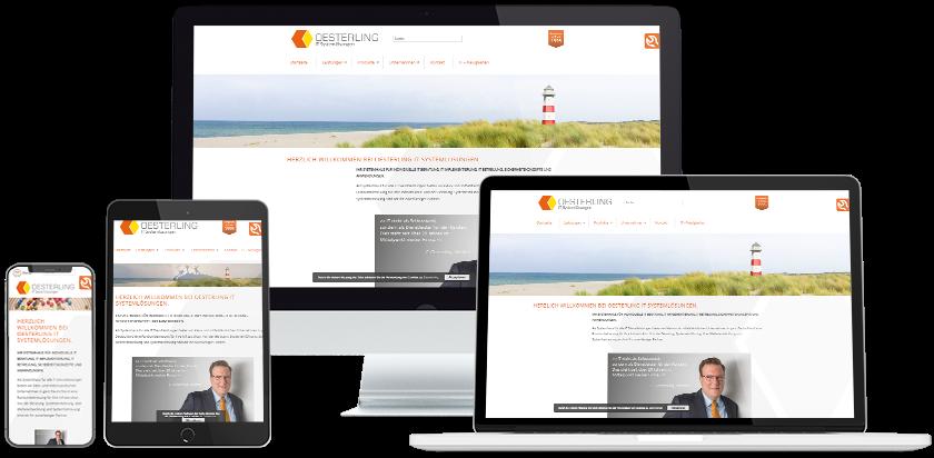 Oesterling Website Übersicht