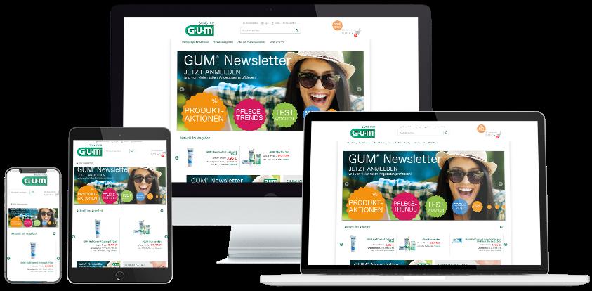 Gum Online-Shop Übersicht