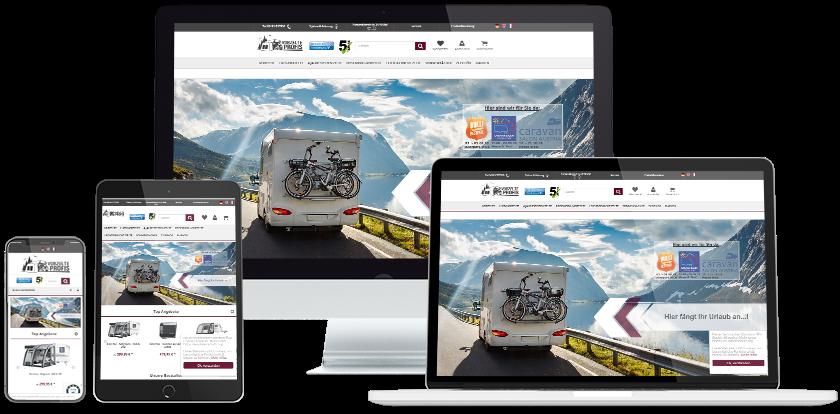 Vorzelte Profis Online-Shop Übersicht
