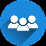 Gruppe im blauen Kreis Icon