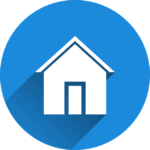 Haus im blauen Kreis Icon