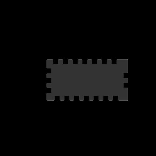Computerchip-Grafik in schwatz auf weißem Hintergrund